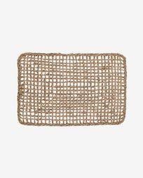 Paillasson d'entrée Yariela fibres naturelles 60 x 40 cm