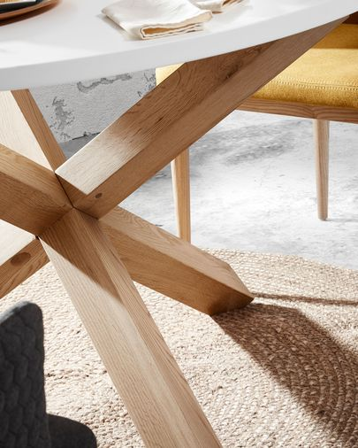 Table Lotus Ø 135 cm blanc