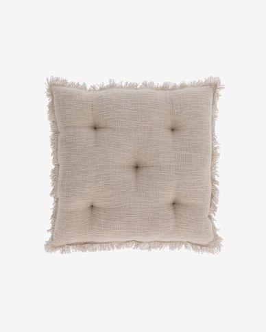 Brunela 100% cotton beige chair cushion 45 x 45 cm