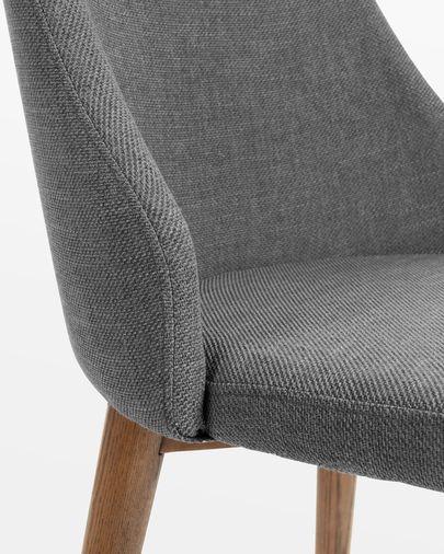 Chaise Rosie gris foncé finition sombre