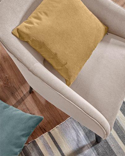Fodera cuscino Namie 45 x 45 cm velluto a coste senape
