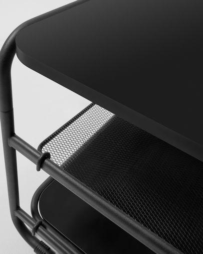 Mueble TV Academy acero negro 98 x 46 cm
