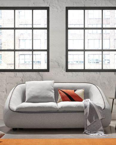Safira 2-seater sofa in light grey 180 cm