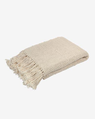 Manta Pearle 100% algodón blanco 130 x 170 cm