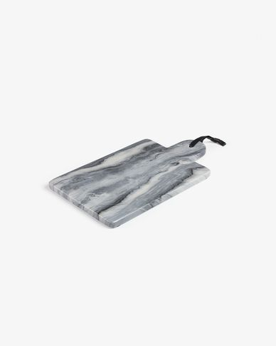 Bergman rechthoekige snijplank grijs marmer