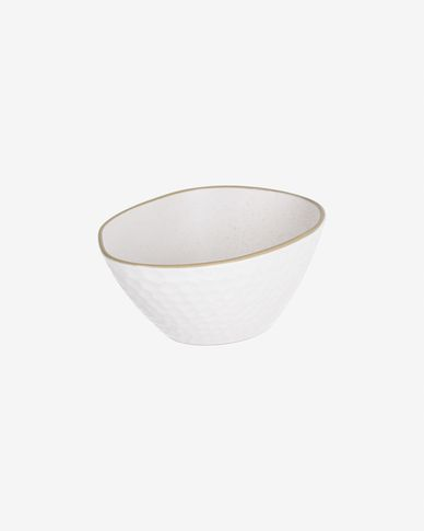 Small Manami ceramic bowl in white