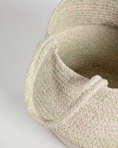 Cesta Sibila 100% algodón verde