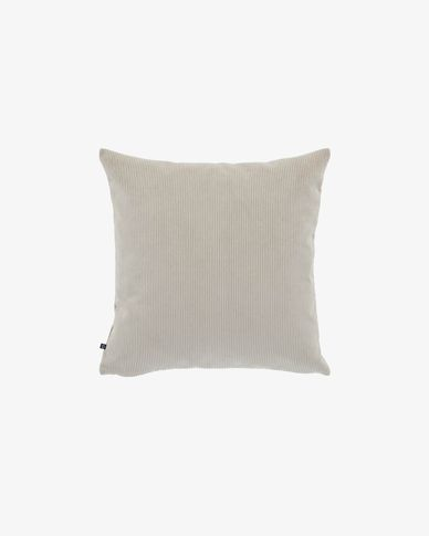 Fodera cuscino Namie 45 x 45 cm velluto a coste tortora