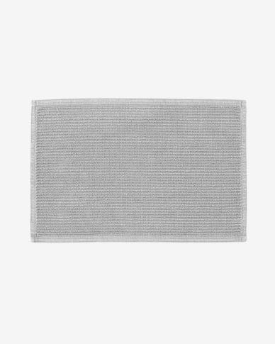 Tapis de bain Miekki gris clair