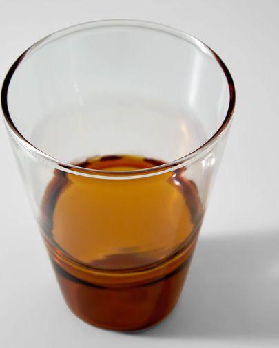 Vaso Fiorina de vidrio naranja y transparente