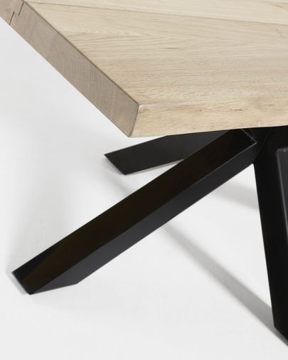 Argo table 220 cm bleached oak black legs