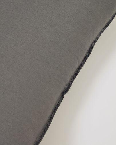 Funda cojín Elea 100% lino gris oscuro 30 x 50 cm