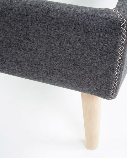 Graphite Dyla bed cover 150 x 190 cm