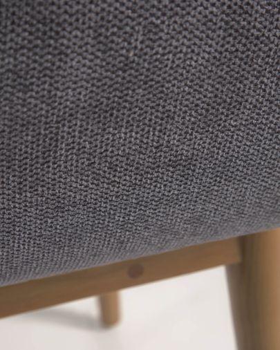 Silla Konna gris oscuro patas de madera maciza de fresno