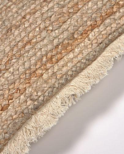 Poszewka na poduszkę Clidia z juty i bawełnianych frędzli 45 x 45 cm