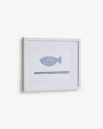 Kuma fish picture with blue dots 30 x 40 cm