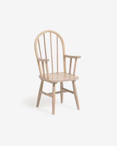 Kinderstoel Daisa in massief rubberhout