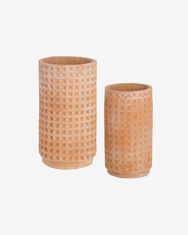 Set Celi di 2 vasi in terracotta Ø 34 cm / Ø 25 cm