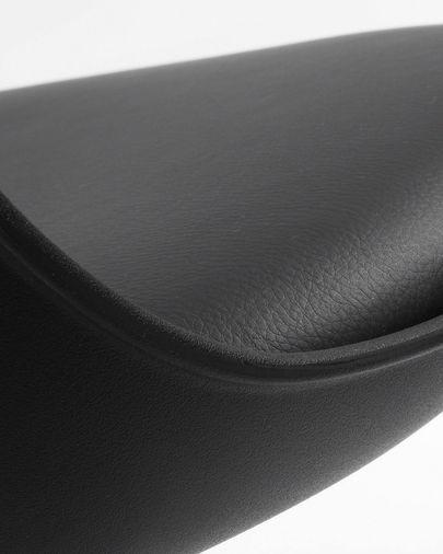 Tamboret Orlando-T negre  altura 60-82 cm