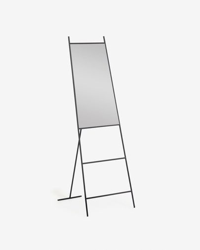 Norland black metal full-length mirror 55 x 166 cm