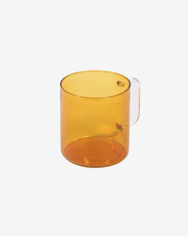 Tassa Coralie vidre taronja i transparent