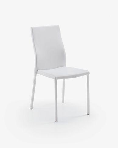 Chaise Abelle polyuréthane blanc