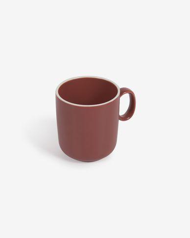 Taza de café Roperta de porcelana terracota