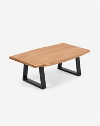 Nahla coffee table made from solid acacia wood with natural finish 115 x 65 cm