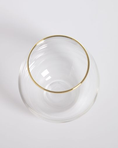 Rasine transparent glass with gold detail 50 cl