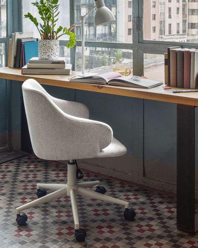 Einara lichtgrijze bureaustoel