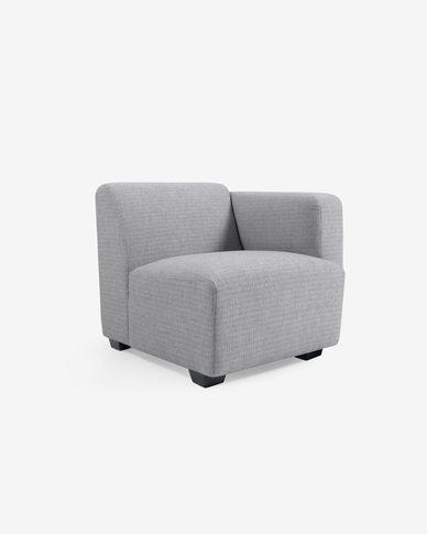 Posto a sedere con bracciolo destra Legara grigio 80 cm