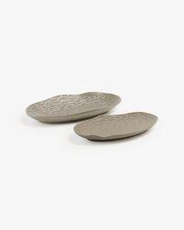 Set Lisha de 2 centros gris