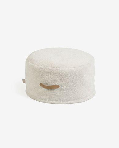 Puf Adara borrec blanc Ø 50 cm