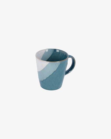 Nelba Tasse, weiss und blau