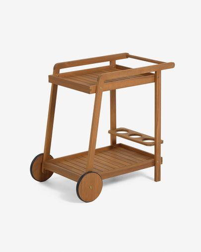 Mesa carrinho Felisa de madeira de acácia FSC 100%