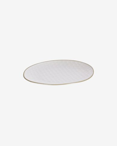 Manami ceramic dessert plate in white