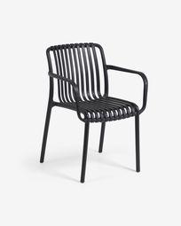 Isabellini Outdoor-Stuhl in schwarz