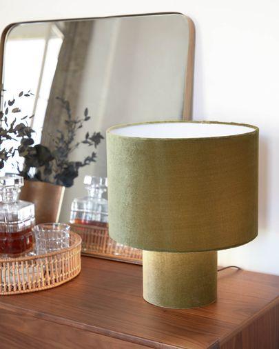 Eastend table lamp in green velvet