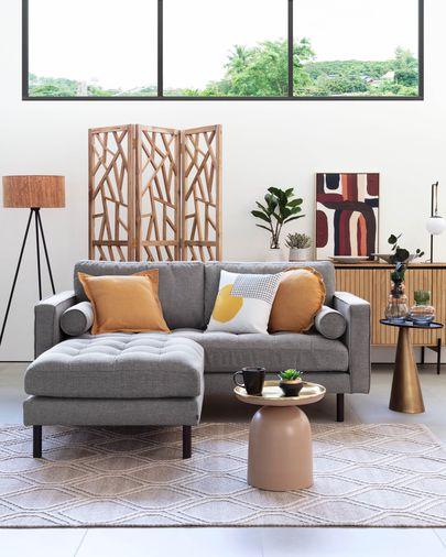Debra 2-zits sofa in lichtgrijs 182 cm