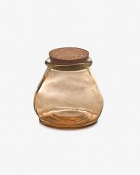 Rohan big brown glass jar 100% recycled
