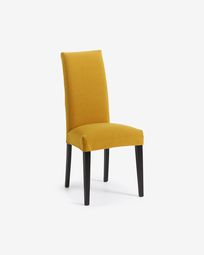 Mustard and black Freda chair