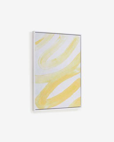 Schilderij Lien in geel-wit 50 x 70 cm