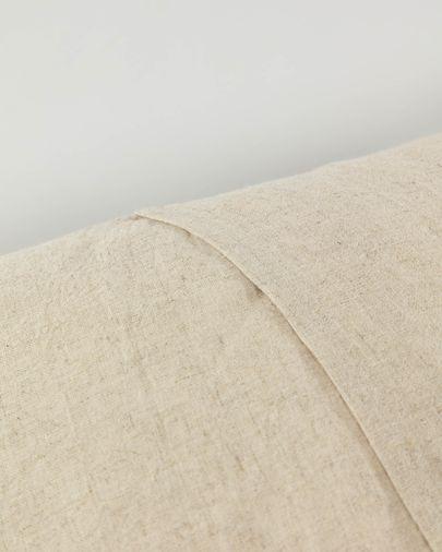 Silene kussensloop 45 x 45 cm bruin en beige