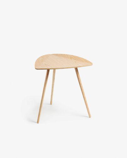 Damasc side table in veneered oak wood 45 x 47 cm