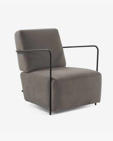 Fauteuil Gamer velours gris