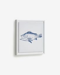 Lavinia picture with blue fish 30 x 30 cm
