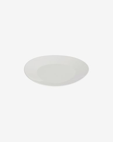 Piatto da dessert ovale Pierina in porcellana bianca