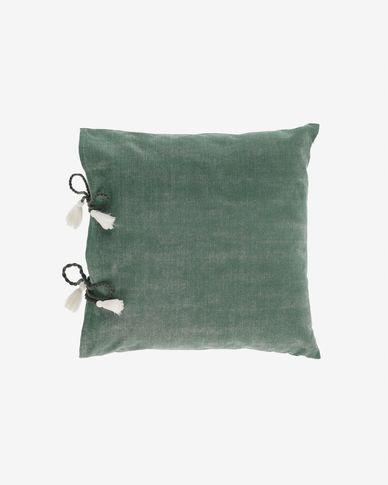 Fodera per cuscino Varina 100% cotone verde 45 x 45 cm