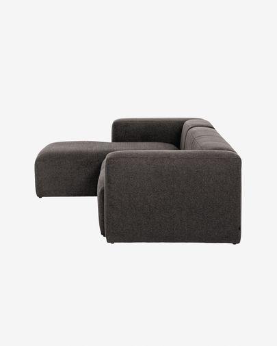 Sofá Blok 3 lugares chaise longue esquerdo cinza 300 cm