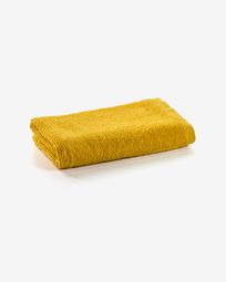 Miekki small bath towel mustard